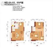 花园广场4室1厅2卫106平方米户型图