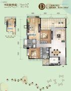 美林湖国际社区3室2厅2卫134--144平方米户型图