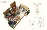 碧桂园十里银滩2室2厅1卫91--95平方米户型图