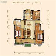 金地铁西檀府2室2厅1卫108平方米户型图