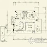 泰然南湖玫瑰湾4室2厅3卫195平方米户型图