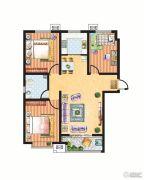 米苏阳光3室2厅1卫111平方米户型图
