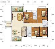 华东七里香(迎龙苑2期)4室2厅3卫148平方米户型图