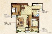 中南锦城2室2厅1卫86平方米户型图