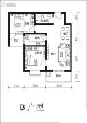 阳光国际2室2厅1卫93平方米户型图