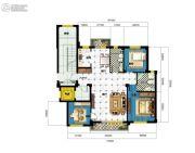 广达公馆3室2厅2卫130平方米户型图