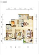 碧桂园森林里3室2厅2卫107平方米户型图