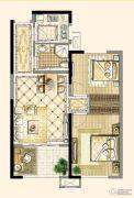 四季金辉2室2厅1卫74平方米户型图