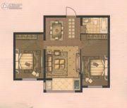 东升江郡2室2厅1卫0平方米户型图