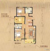 尚城华府3室2厅1卫85平方米户型图
