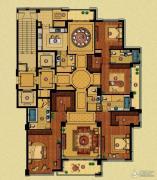 百合花园4室3厅5卫316平方米户型图