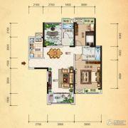 清江・月亮湾3室2厅2卫108平方米户型图