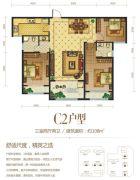 建业春天里3室2厅2卫108平方米户型图