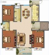 君悦国际花园3室3厅2卫133平方米户型图