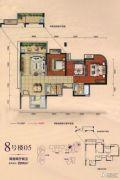 勤诚达22世纪2室2厅2卫86平方米户型图