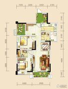 世茂城3室2厅2卫94平方米户型图