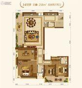 中建・宜昌之星4室2厅2卫258平方米户型图