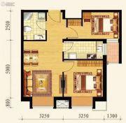 保利达大象公寓2室2厅1卫68平方米户型图
