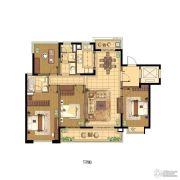 蓝光公园1号4室2厅2卫142平方米户型图