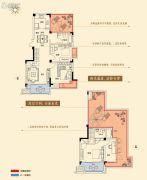 金轮星光名座生活广场3室2厅2卫133平方米户型图