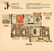 中南・公园物语4室2厅2卫142平方米户型图