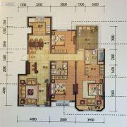 金地锦城3室2厅2卫140平方米户型图