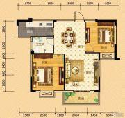 河畔春秋二期・碧水雅居2室2厅1卫87平方米户型图