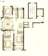中梁首府壹号院3室2厅2卫107平方米户型图