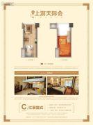 世茂上游墅1室1厅1卫53平方米户型图