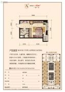 华府新天地1室1厅1卫43平方米户型图