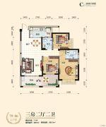 台湾街3室2厅2卫96--100平方米户型图