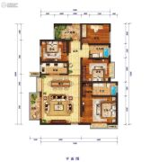 怡景尚居4室2厅2卫188平方米户型图