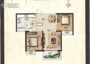 正商城2室2厅1卫88平方米户型图