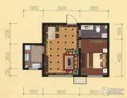鞍山东亚第一城四五期1室2厅1卫53平方米户型图