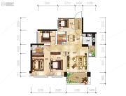越亚天赐良园4室2厅2卫85平方米户型图