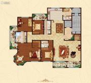 万国园白金汉府5室2厅4卫293平方米户型图