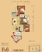 领地・国际公馆3室2厅3卫88平方米户型图