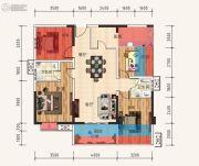 天立・学府华庭3室2厅2卫98平方米户型图
