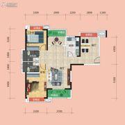 广电兰亭时代3室2厅2卫113平方米户型图