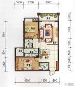 府前雅居苑2室2厅2卫85平方米户型图