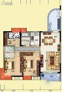 雅博世纪广场3室2厅1卫123平方米户型图