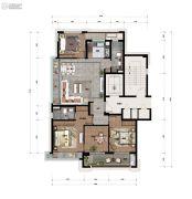 景瑞・天赋4室2厅2卫0平方米户型图