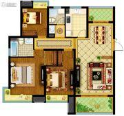 南通万达广场3室2厅2卫120平方米户型图
