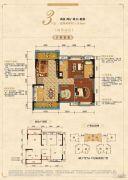 金科中央公园城2室2厅2卫0平方米户型图