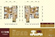 华浩国际城3室2厅2卫114--119平方米户型图