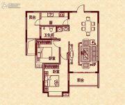 新华茗苑2室2厅1卫95平方米户型图