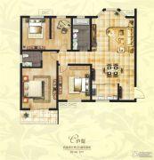 创鑫阳光城4室2厅2卫160平方米户型图