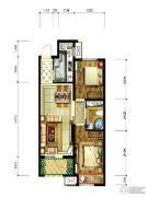 永定河孔雀城美丽园2室2厅1卫76平方米户型图