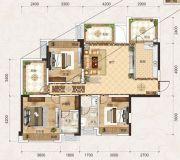 联发君悦壹号3室2厅2卫118平方米户型图