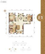 幸福湾3室2厅2卫123平方米户型图